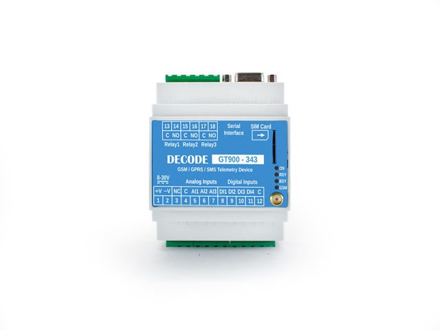 Industrial GSM/GPRS devices GT900 110 - 343 - 686 - Decode